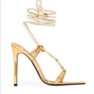 Shoes - Heeled sandals - Gold